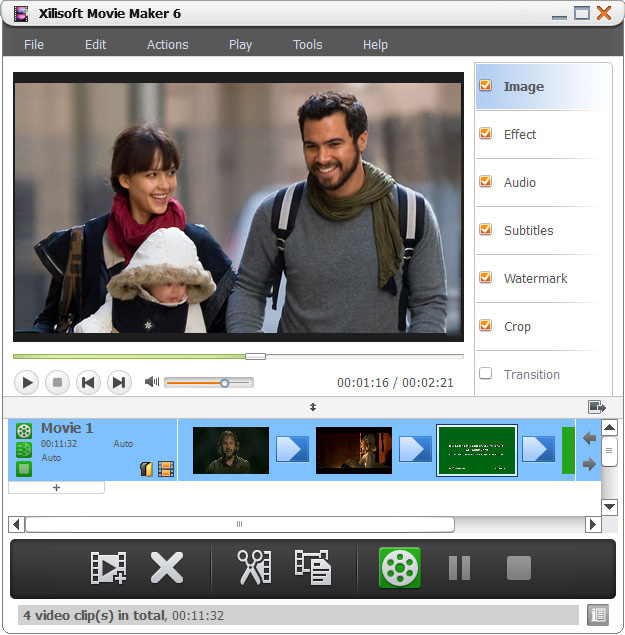 screenshot Xilisoft Movie Maker 6.0.4 1