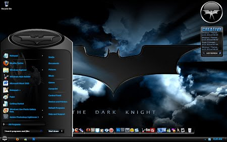 Download Dark Knight Ultimate Themes For Windows 7 OS Torrent