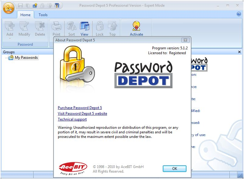 ������ ��� ������� ���� ��� Password Depot Professional Password Depot P