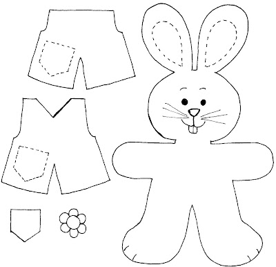 CoelhoLembPascoaMolde Lembrancinhas e atividades para Páscoa para crianças