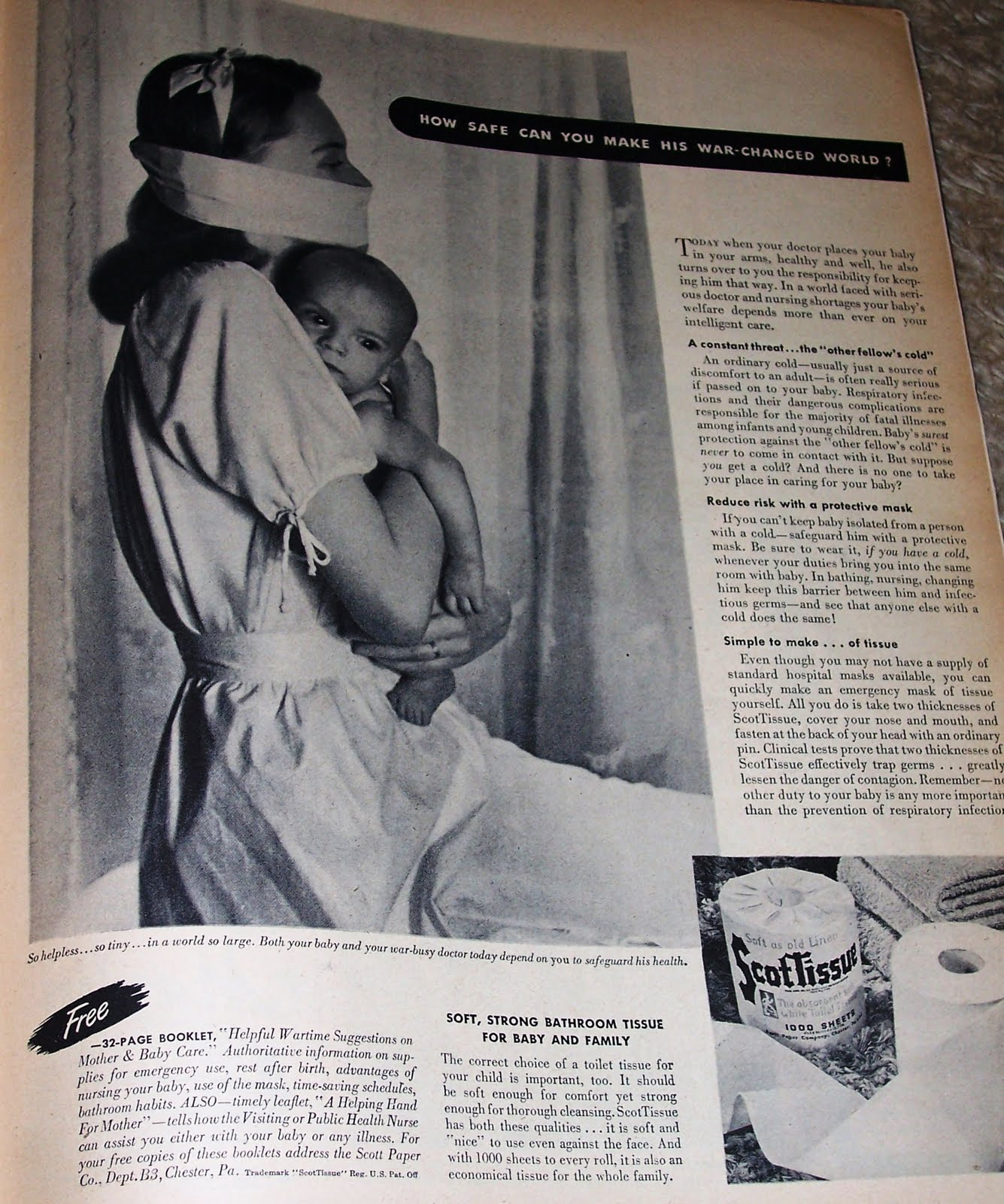 It Never Would Occur To Me That Toilet Paper Could Double As A Surgical Mask But I Suppose In Wartime You Had Do What