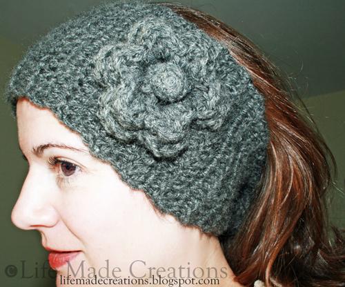 Crocheting Ear Warmers : Life Made Creations: Crochet Ear Warmer