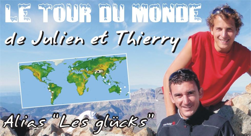 Tour du Monde des Glücks Julien et Thierry