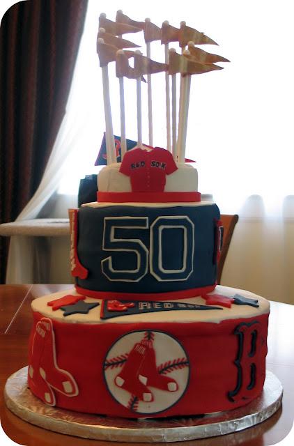 Red Sox Birthday Cake ~ Dozen Flours