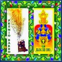 Premio Blog de Oro y Premio Dardo. Junio 2009