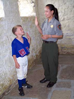 swearing in of junior ranger