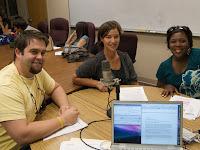 Rachel Davis, Justin Tullis, and Myrenda Howze