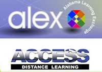 Alex and access logos