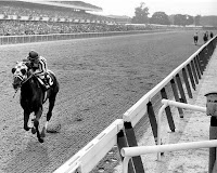 Secretariat winning the 1973 Belmont Stakes