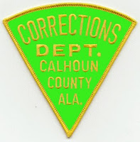 Sleeve patch reading Corrections Department Calhoun County Alabama