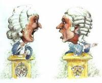 cartoon images of two people debating