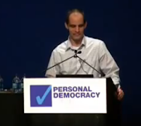 Dr. Wesch speaking to the Personal Democracy Forum