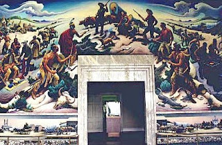 Independence and the opening of the west, Thomas Hart Benton's mural at the Truman Library, Independence, Missouri