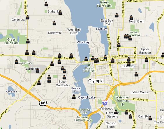 Olympia capital of Washington Mapped SpotCrime The Public 39 s Crime Map