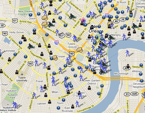 New Orleans Crime Map MAP3