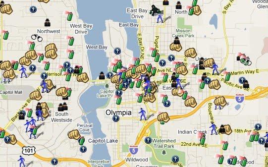Olympia City Map