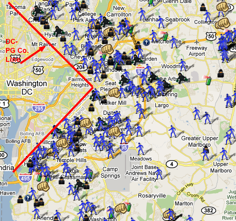 Spotcrime Map Of Pg County Md Check Out The Dc Crime Map At Spotcrime