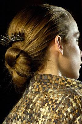 Chignon hair style