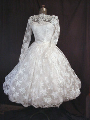 vintage 50s wedding gown