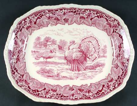 Here is another lovely brown transferware turkey platter by Rowland and Marcellus. This firm commissioned wares from various English potters ... & Nancy\u0027s Daily Dish: Talking Turkey.... and Transferware