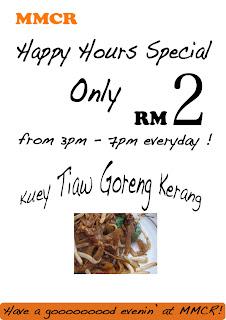 Makan petang@MMCR cuma RM 2 !