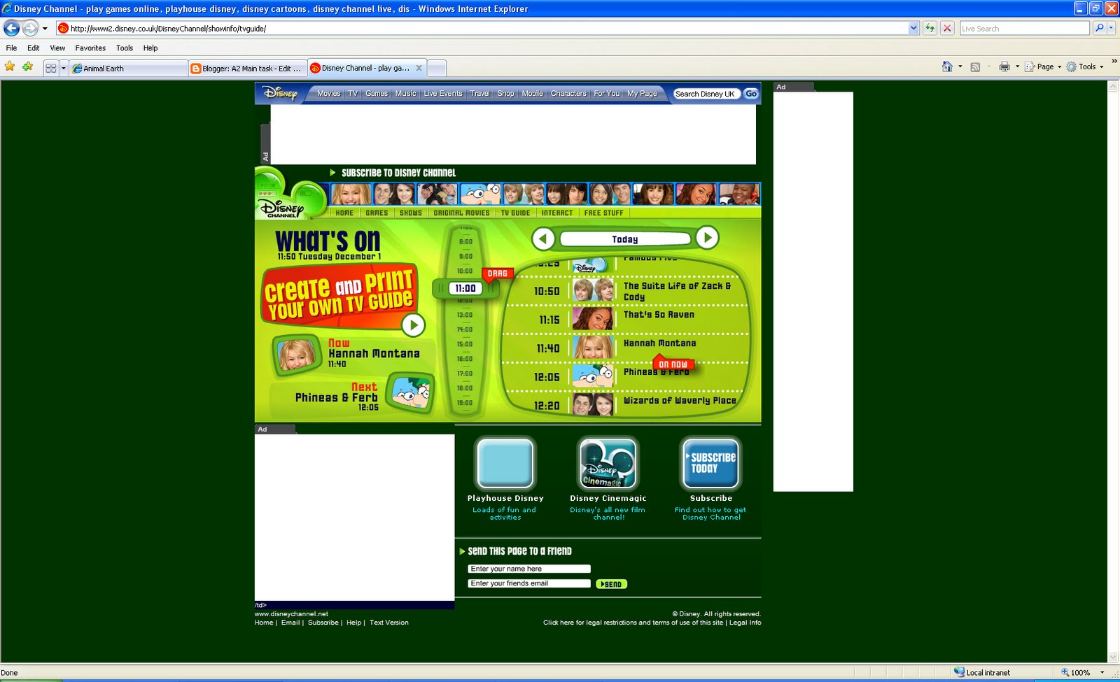 Disney Channel Official Site Picture 7 Games We Played