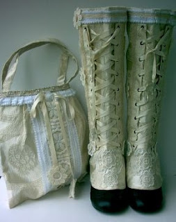 Victorian Spats and Purse