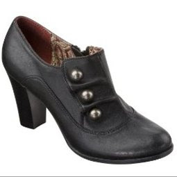 Xhilaration Karnani Button Booties Black