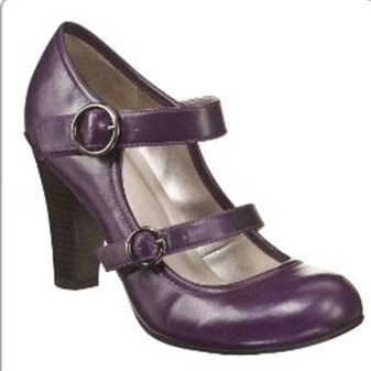 Xhilaration Stasya Mary Jane Pumps Plum