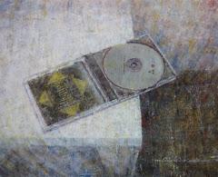 Disco Compacto  _Oleo lienzo tabla