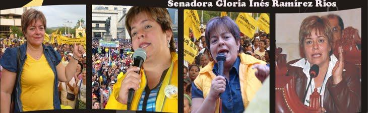 Senadora Gloria Inés Ramírez