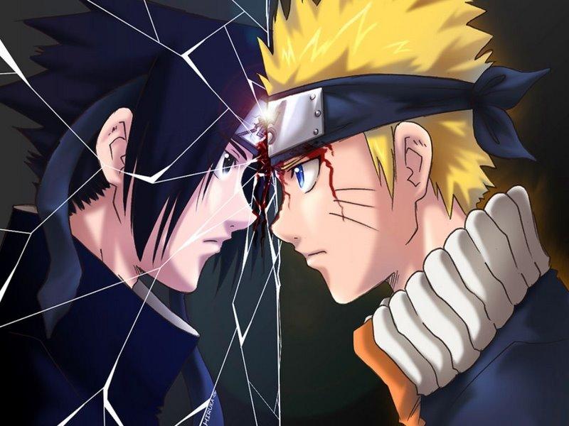 naruto and sasuke pictures. Naruto Kyubi vs Sasuke