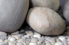 Lovely felted rock cushions