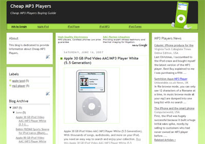 Mp3 blogspot blogger template