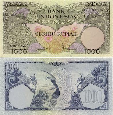 Foto Uang 1000 yang Pernah Ada di Indonesia - raxterbloom.blogspot.com