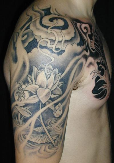 flower tattoo sleeve. Sleeve Tattoo
