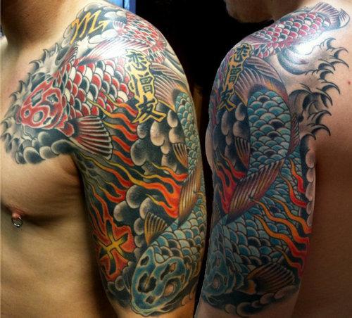 Tattoo japan sleeve tattoo design for 1 4 sleeve tattoo