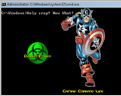 Captain Command Line To The Rescue