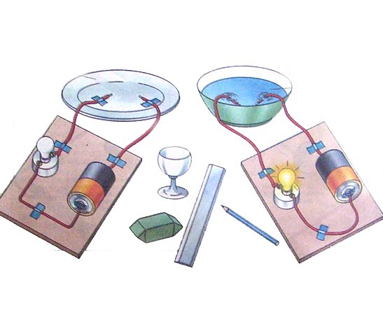 Electricity Conductor Experiment : Science for kids experiment distinguishing between