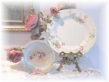 Pretty Rose Plates
