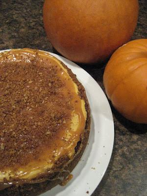 Sweet Tweets Bakery: Pumpkin Gingersnap Caramel Cheesecake