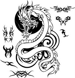 Dragon Temporary Tattoo Design