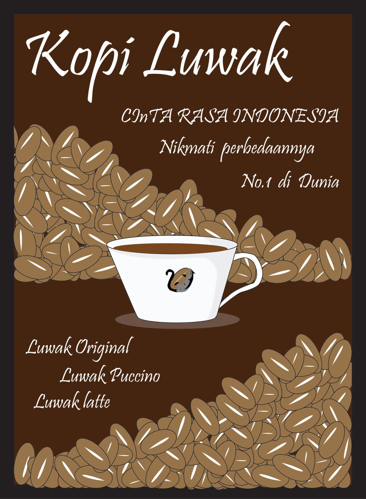 poster produk kopi luwak