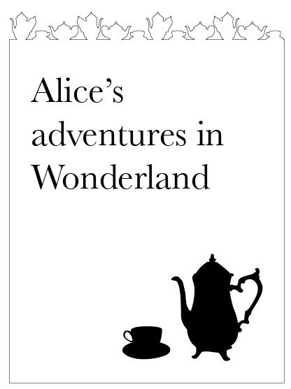 Alice In Wonderland Book Cover Ideas : Fmp alice in wonderland book cover design initial