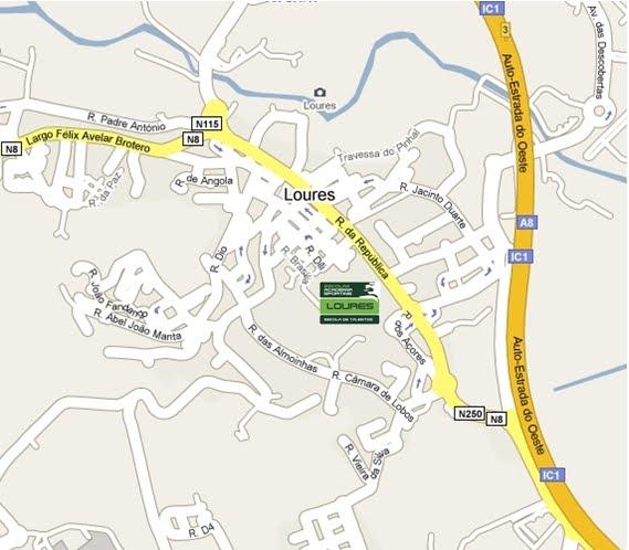 Localização da nossa Academia