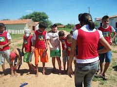 Na comunidade de Pedregulho o PETI envolve-se com atividades esportivas