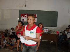 A monitora do PETI da Palestina também é uma parceira do PETECA