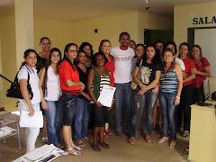 prefeita Fátima Maciel com a equipe de articuladoes do peteca