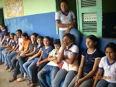 alunos da E.E.F em Guassussê no lançamento do Programa
