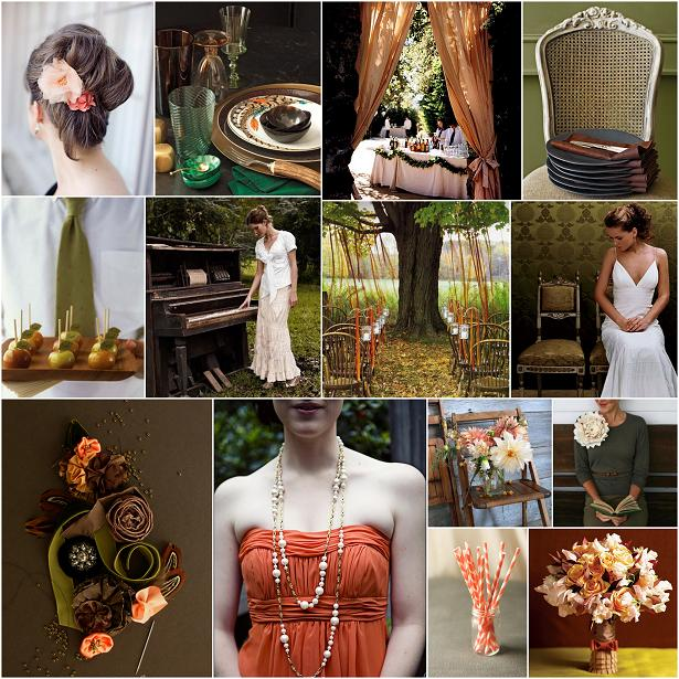 i love this rustic outdoor autumn wedding the rich moss green with the